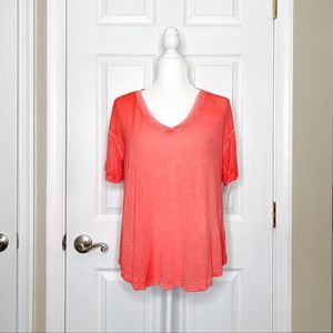 Abound Nordstrom Women's Tee Short Sleeve  Coral